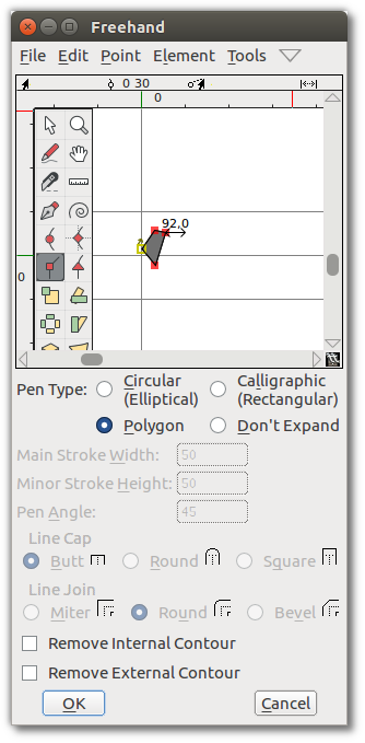 Design With FontForge: Using the FontForge Drawing Tools