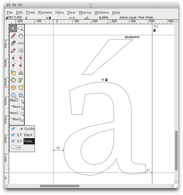 Design With Fontforge Diacritics And Accents