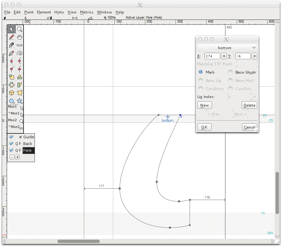 Design With FontForge: Diacritics and Accents