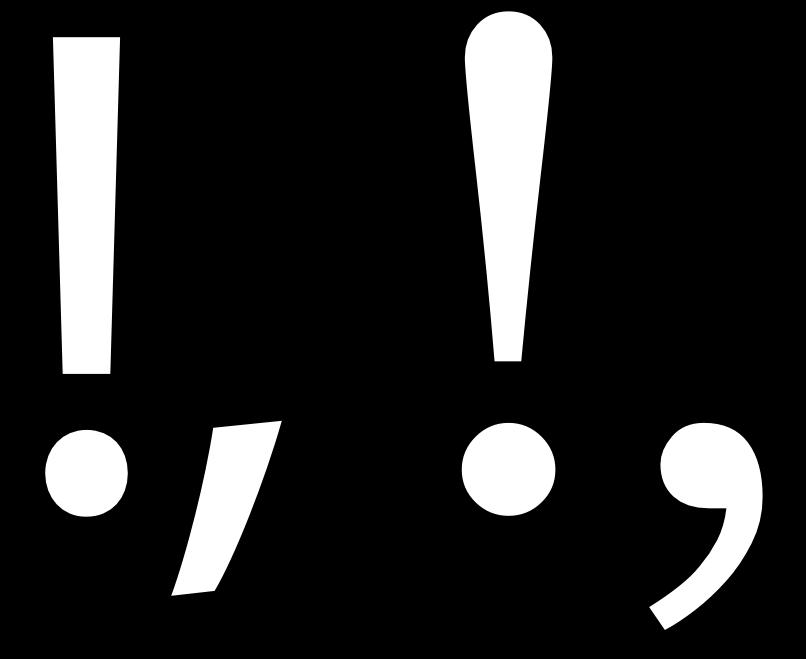 Design With Fontforge Punctuation And Symbols